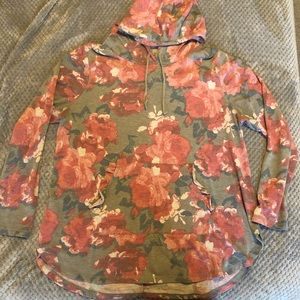 LIVI ACTIVE: Lightweight Floral Hoodie